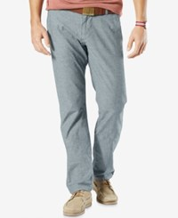 Dockers Men's Slim Fit Tapered Alpha Khaki Pants Navy Chambray