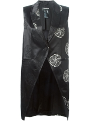 Ann Demeulemeester Circle Embroidered Asymmetric Waistcoat Black