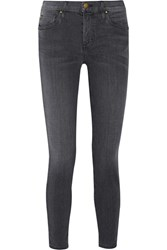 The Great Cropped Mid Rise Skinny Jeans Anthracite