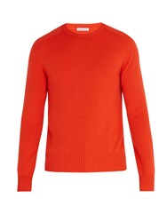 Tomas Maier Cashmere Knitted Sweater Coral
