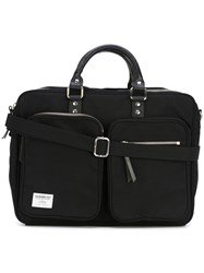 Sandqvist Leather Handle Laptop Bag Black