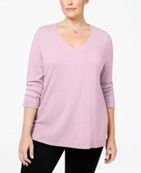 Karen Scott Plus Size V Neck Sweater Only At Macy's Pink Ice