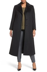 Fleurette Plus Size Women's Long Wool Coat