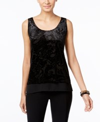 Inc International Concepts Velour Burnout Tank Top Only At Macy's Deep Black