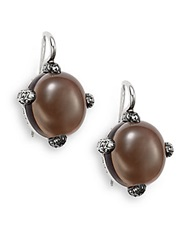 Pomellato 67 67 Collection Man Made Smoky Quartz Marcasite And Sterling Silver Earrings