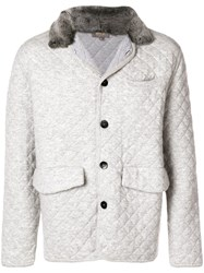 N.Peal Quilted Cashmere Jacket Grey