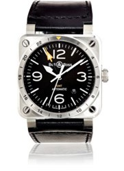 Bell And Ross Men's Br 03 93 Gmt Watch Silver