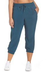 Zella Out And About 2 Crop Pants Teal Abyss