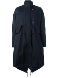 Sacai Layered Fishtail Parka Blue