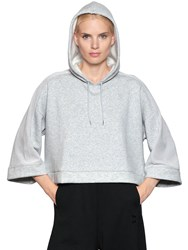 Puma Select Hooded Cropped Cotton Blend Sweatshirt