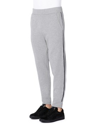 Tomas Maier Side Stripe Fleece Sweatpants Charcoal