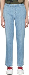 Valentino Blue Denim Trousers