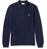 Lacoste Cotton Pique Polo Shirt Blue