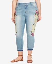 William Rast Plus Size Embroidered Skinny Ankle Jeans Summer Dance