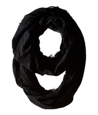 Betsey Johnson Lace Border Infinity Loop Black Scarves