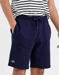 Lacoste Sport Basic Jersey Shorts In Navy