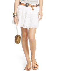 Denim And Supply Ralph Lauren Eyelet Embroidered Miniskirt White