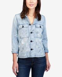 Lucky Brand Cotton Denim Utility Jacket Quitman