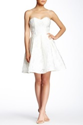 Gracia Floral Crocheted Sweetheart Dress White