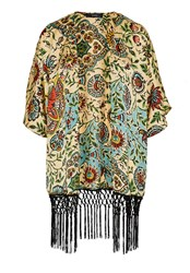 Hallhuber Kimono Jacket With Ethnic Print Multi Coloured