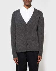 Beams Plus B Stretch Knit Cardigan Charcoal Grey