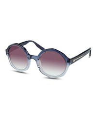 Jason Wu Sarai Faceted Round Acetate Sunglasses Gradient Blue