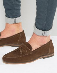 Asos Loafers In Brown Suede Brown