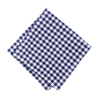 J.Crew Cotton Pocket Square In Navy Gingham Classic Navy