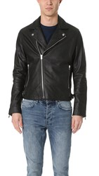 The Kooples Minimalist Leather Jacket Black