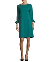 Lafayette 148 New York Paige 3 4 Sleeve Jersey Dress Atlantic Teal