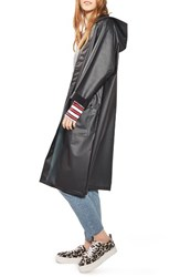 Topshop Women's Frosted Longline Raincoat Black