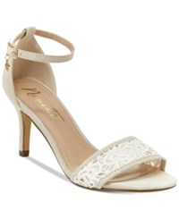 Nanette Lepore By Beauty Two Piece Crochet Sandals Only At Macy's Women's Shoes Ivory