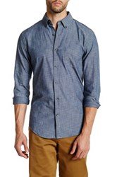 Lands' End Chambray Shirt Blue