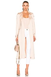 Lover Anise Satin Trench In Pink