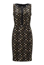 James Lakeland Jacquard Pattern Dress Black