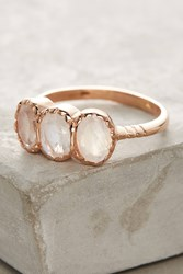 Anthropologie Moonstone Trio Ring Gold