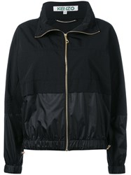 Kenzo Logo Print Wind Breaker Jacket Black