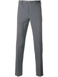 Pt01 Tapered Cropped Trousers Grey