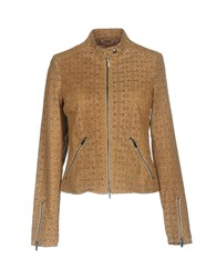 Vintage De Luxe Coats And Jackets Jackets Sand