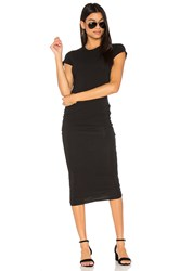 James Perse Classic Skinny Dress Black And White