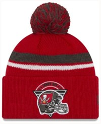 New Era Tampa Bay Buccaneers Diamond Stacker Knit Hat Red