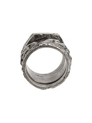Tobias Wistisen Multiple Moulded Chain Ring Silver