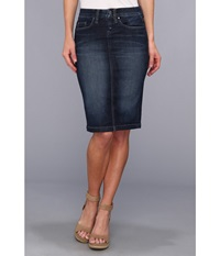 Blank Nyc Denim Pencil Skirt In Denim Blue Denim Blue Women's Skirt