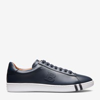 Bally Men's Leather Trainer In Dark Navy Blue