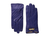 Ted Baker Bowra Metal Bow Leather Gloves Blue Extreme Cold Weather Gloves