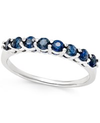 Macy's Sapphire 3 4 Ct. T.W. Band In 14K White Gold