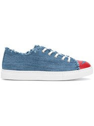 Charlotte Olympia Kiss Me Sneakers Blue