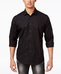 Inc International Concepts Men's Non Iron Cross Hatch Cotton Shirt Only At Macy's Charcoal