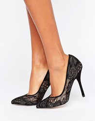 Paper Dolls Black Lace Court Shoe Black