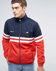 Ellesse Rimini Track Jacket In Suedette Red
